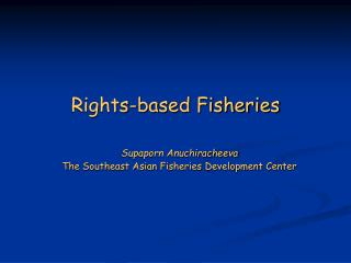 Rights-based Fisheries