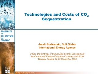 Technologies and Costs of CO 2 Sequestration