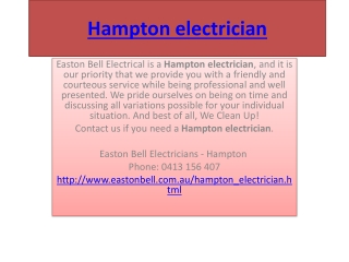 Hampton electrician