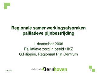 Regionale samenwerkingsafspraken palliatieve pijnbestrijding