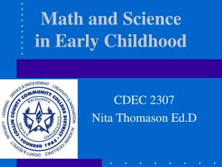 Math and Science in Early Childhood