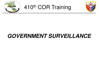 GOVERNMENT SURVEILLANCE