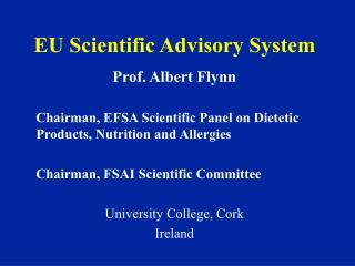 EU Scientific Advisory System