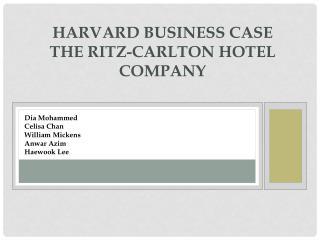 HaRvard Business Case The Ritz-Carlton Hotel Company
