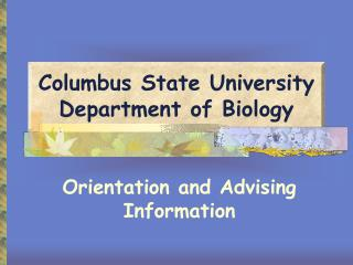 Columbus State University Department of Biology
