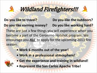 Wildland  Firefighters!!!