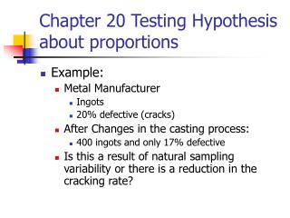 chapter 20 testing hypothesis about proportions
