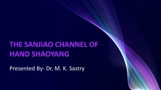 THE SANJIAO CHANNEL OF HAND SHAOYANG