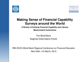 Making Sense of Financial Capability Surveys around the World A Review of Existing Financial Capability and Literacy Me