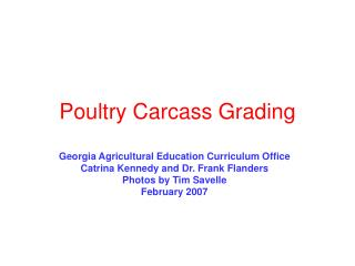 Poultry Carcass Grading