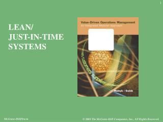 LEAN/ JUST-IN-TIME SYSTEMS