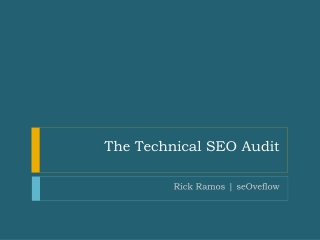 The Technical SEO Audit