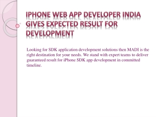 iPhone Web App Development India