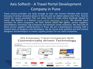 Axis Softech - A Travel Portal Development Company in Pune