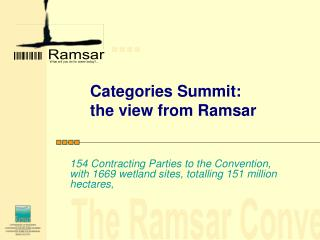 Categories Summit: the view from Ramsar