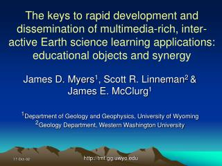 The keys to rapid development and dissemination of multimedia-rich, inter-active Earth science learning applications: ed