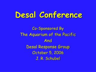 Desal Conference