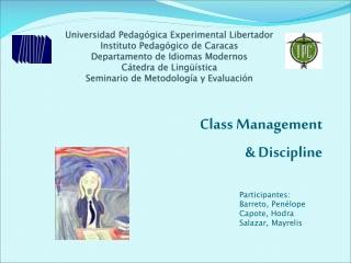 Class Management & Discipline