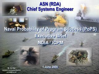 ASN (RDA) Chief Systems Engineer