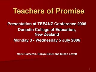 Teachers of Promise