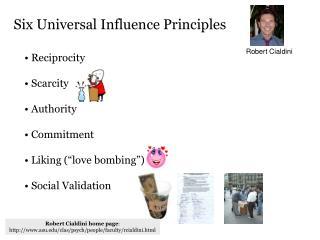 Six Universal Influence Principles
