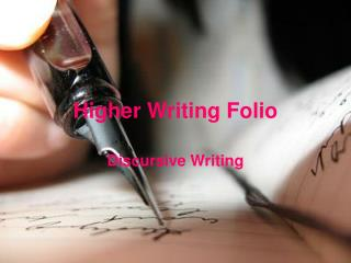 Higher Writing Folio