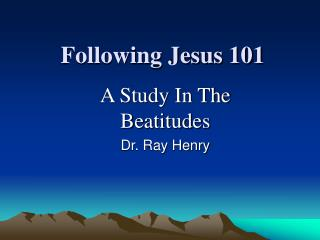 Following Jesus 101