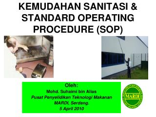 KEMUDAHAN SANITASI &                 STANDARD OPERATING PROCEDURE (SOP)