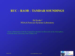 RUC – RAOB – TAMDAR SOUNDINGS