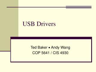USB Drivers