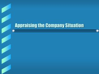 Appraising the Company Situation