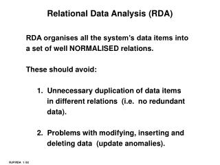 Relational Data Analysis (RDA)