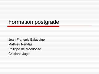 Formation postgrade
