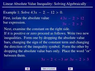 First, isolate the absolute value bar expression.