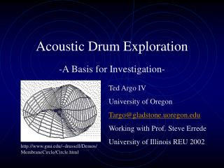 Acoustic Drum Exploration