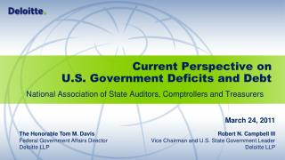 Current Perspective on U.S. Government Deficits and Debt