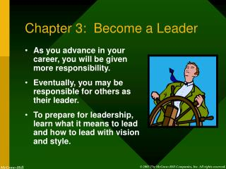Chapter 3: Become a Leader