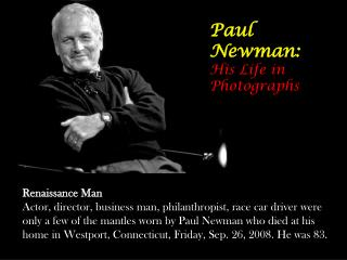 Paul Newman: His Life in Photographs