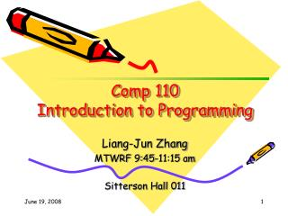 Comp 110 Introduction to Programming