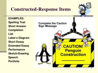 Constructed-Response Items