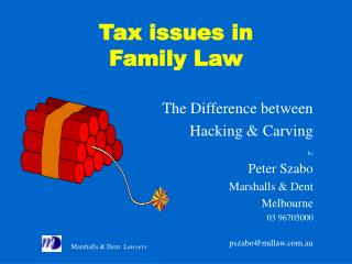 Tax issues in Family Law