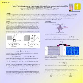 Parallel Factor Analysis as an exploratory tool for wavelet transformed event related EEG Morten Mørup 1 , Lars Kai Hans