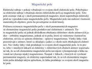 Magnetick é pole