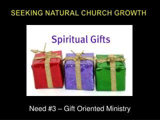 Seeking Natural Church Growth