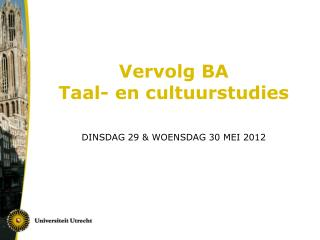 Vervolg BA Taal- en cultuurstudies