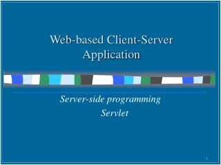 Web-based Client-Server Application