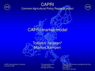 CAPRI market model