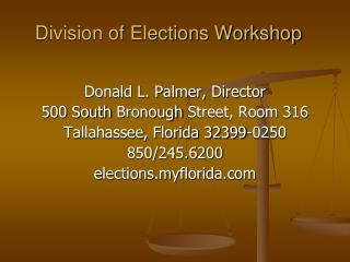 Division of Elections Workshop