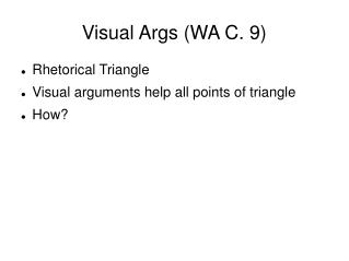 Visual Args (WA C. 9) ‏