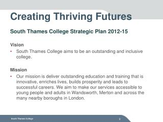 Creating Thriving Futures